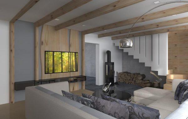 Obývací pokoj – rekonstrukce RD